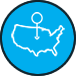 United States Map Icon